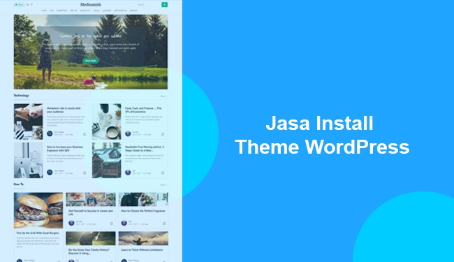 jasa install theme wordpress